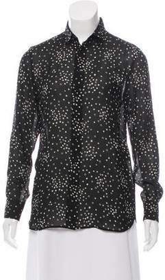 Saint Laurent Star Print Button-Up Top