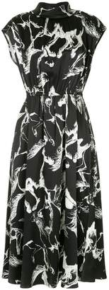 ADAM by Adam Lippes abstract print midi dress