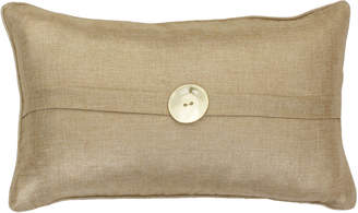 Marlo Lorenz Thro By Metallic Flax Linen Oblong Pillow