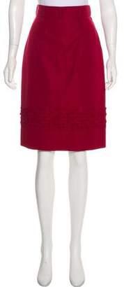 Saint Laurent Tonal Knee-Length Skirt
