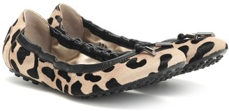 Tod's Exclusive to Mytheresa Leopard-print calf hair ballet flats