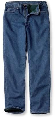 Men's L.L.Bean Double LA Jeans, Fleece-Lined Classic Fit