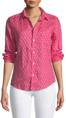 Frank And Eileen Barry Button-Front Slim Linen Shirt