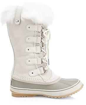 Sorel Women's Joan of Arctic Waterproof Suede Faux Fur Boots