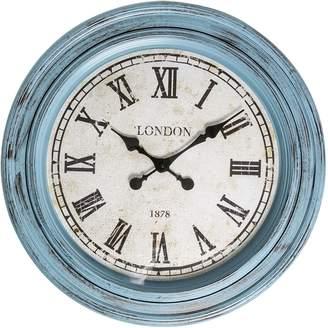 Casa Uno London Roman Numerals Round Wall Clock, 61cm, Blue R