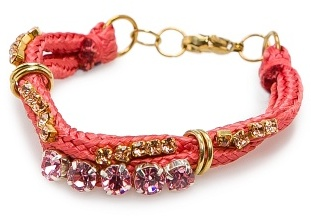 MANGO TOUCH - Drawcord bracelet with crystals