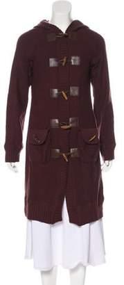 Magaschoni Merino Wool Longline Cardigan