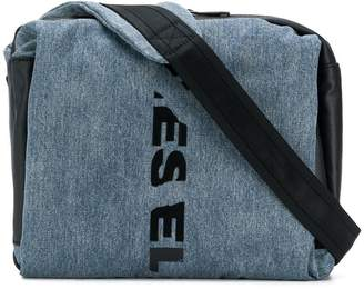 Diesel slashed logo belt bag