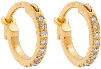 Ileana Makri Diamond & yellow-gold earrings