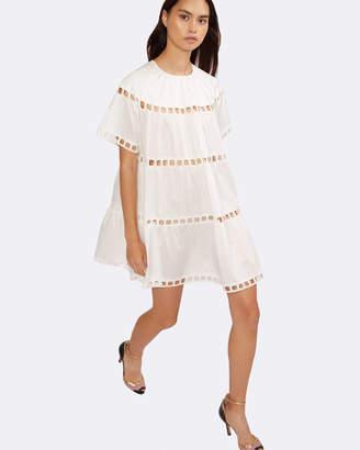 Cynthia Rowley White Postcard Eyelet Dress