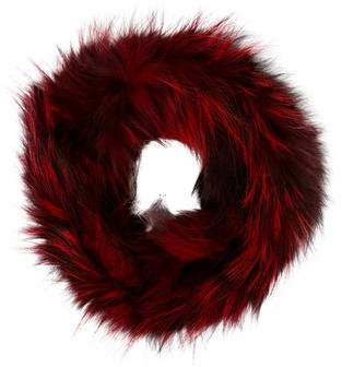Adrienne Landau Knitted Fox Fur Snood w/ Tags