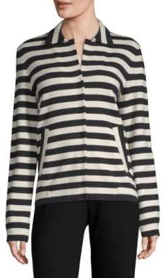 Akris Stripe Button Jacket