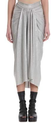 Rick Owens Lilies Pearl Pleated Midi Skirt