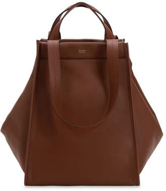 Max Mara Large Reversible Cashmere & Leather Bag