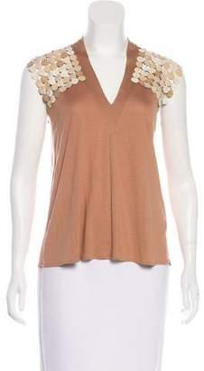 Rozae Nichols Sleeveless Silk-Blend Top.