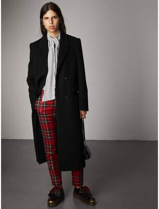 Burberry Tartan Wool Tailored Trousers