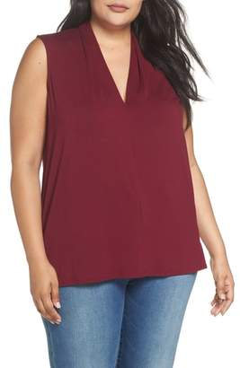 Vince Camuto Sleeveless V-Neck Knit Blouse