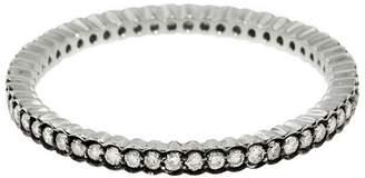 Ring Black Sethi Couture Diamond Scallop Ring - Black Gold