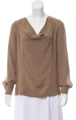 Yigal Azrouel Silk Long Sleeve Blouse