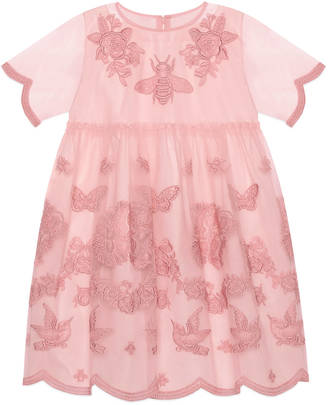 Children's tulle dress with embroidery $865 thestylecure.com