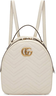 Gucci White GG Marmont Backpack