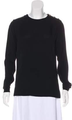 Ralph Lauren Black Label Silk Long Sleeve Top
