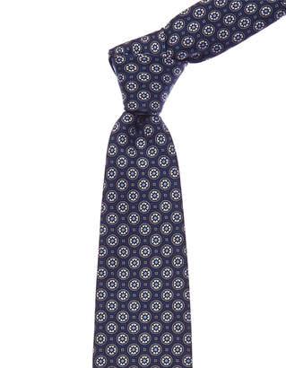 Canali Blue Circles Silk Tie