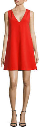 Theory V-Neck Admiral Crepe A-Line Dress