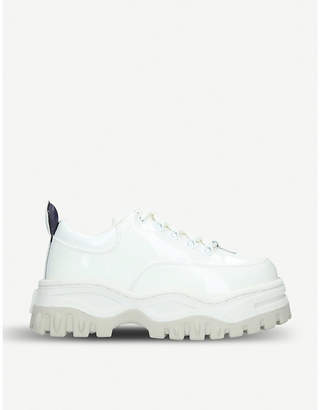 Eytys Angel patent-leather chunky trainers
