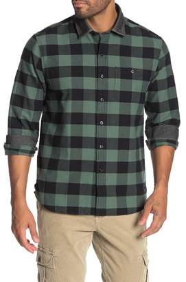 Michael Bastian Buffalo Plaid Chambray Collar Oxford Slim Fit Shirt