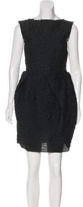 Lanvin Sleeveless Jacquard Dress