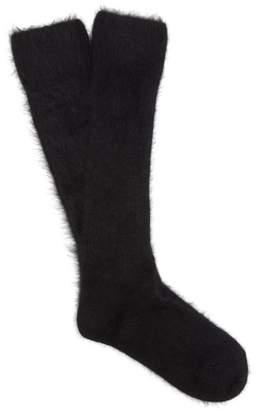 Raey Ethical Angora Blend Hiking Socks - Womens - Black