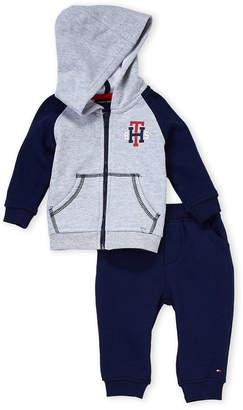 Tommy Hilfiger Newborn Boys) Two-Piece Fleece Hoodie & Joggers Set
