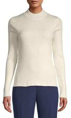 Calvin Klein Ribbed Long-Sleeve Sweater