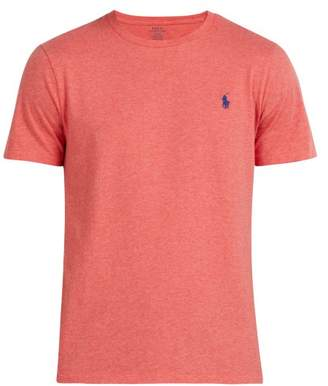 Polo Ralph Lauren Logo Embroidered Cotton T Shirt - Mens - Red
