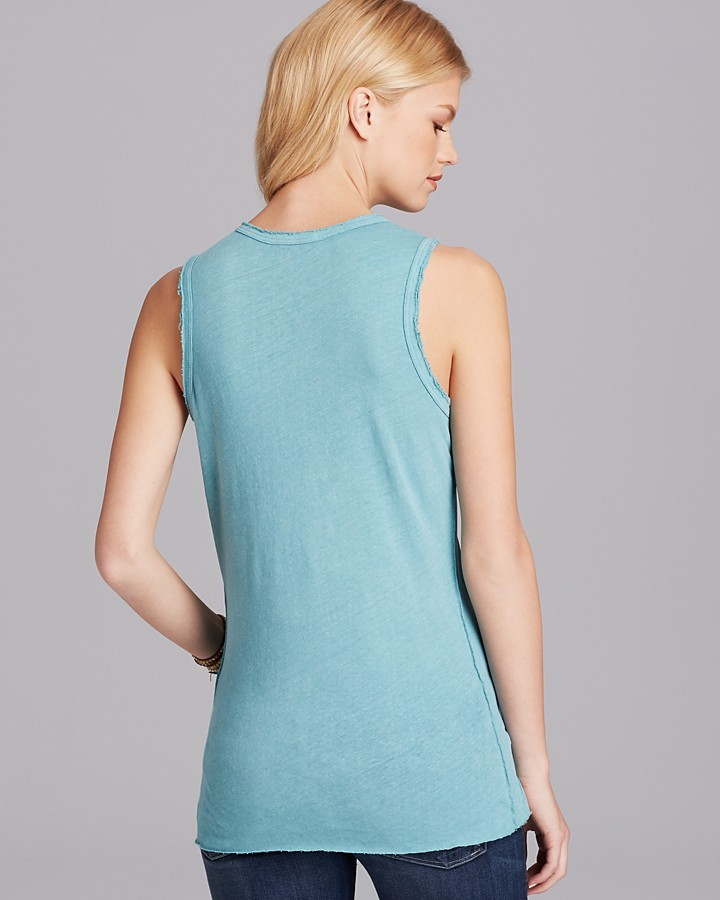 James Perse Tank - Inside Out Tomboy Muscle