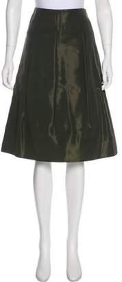 Louis Vuitton Knee-Length Pleated Skirt
