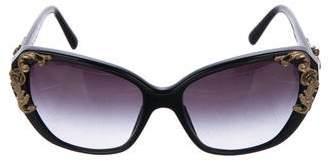 Dolce & Gabbana Square Embellished Sunglasses