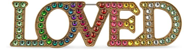 GucciLoved brooch with crystals