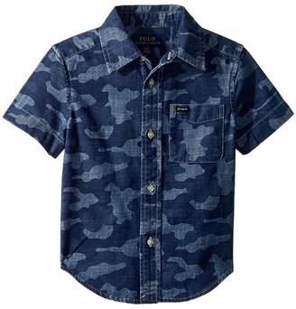 Polo Ralph Lauren Camo Cotton Chambray Shirt Boy's Clothing