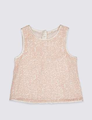 Marks and Spencer Sequin Vest Top (3-16 Years)