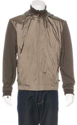 Zegna Sport Woven-Paneled Hooded Jacket