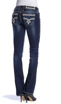 Rock Revival Topstitch Bootcut Jeans