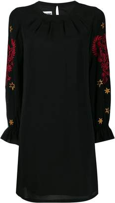 Moschino mythological embroidered shift dress