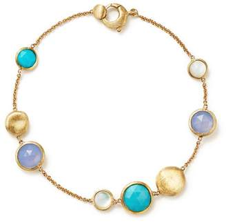 Marco Bicego 18K Yellow Gold Jaipur Bracelet with Turquoise, Mother-Of-Pearl and Chalcedony - 100% Exclusive