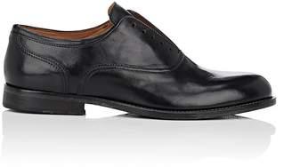 Barneys New York Men's Laceless Leather Balmorals
