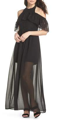 Ali & Jay One Hand One Heart Cold Shoulder Maxi Dress