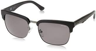 Police Sunglasses Men's Blackbird 1 SPL354 Sunglasses, Black/Shiny Matt