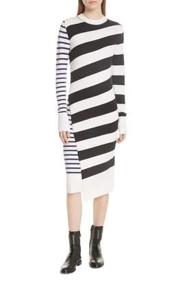 Jason Wu GREY Mixed Stripe Merino Wool Sweater Dress