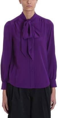 Marc Jacobs Purple Silk Blouse
